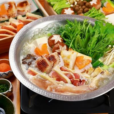 比内地鶏のスープ鍋(2~3人前)