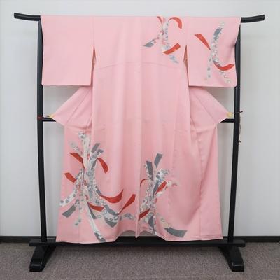 レンタル3泊4日 訪問着 正絹 袷 束ね熨斗 ピンク