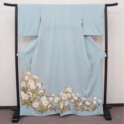 レンタル3泊4日 色留袖 一つ紋 正絹 袷 牡丹と梅と孔雀