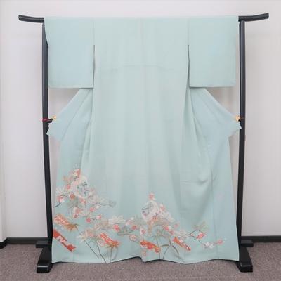 レンタル 色留袖 一つ紋 正絹 袷 鶴の丸宝尽くしと松竹梅