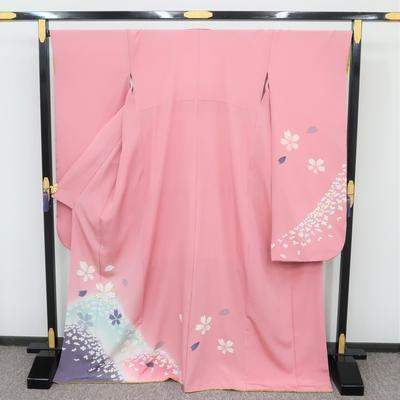 2月~12月のレンタル 振袖 正絹 ピンク系 春霞の山桜