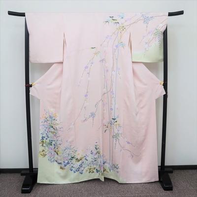 レンタル3泊4日 訪問着 正絹 袷 四季の庭 桜色