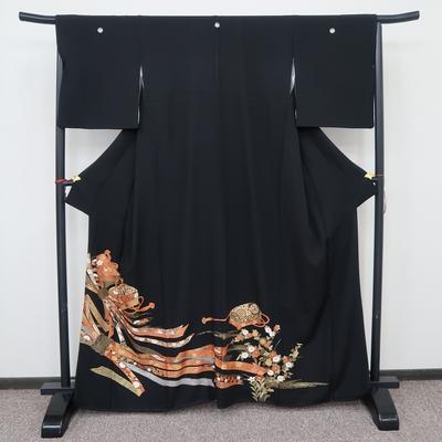 レンタル3泊4日 黒留袖 正絹 袷 束ね熨斗と文箱