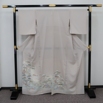 レンタル3泊4日 夏色留袖 一つ紋 絽  正絹 松の浦