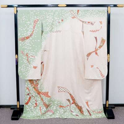 2月~12月レンタル 振袖 正絹 舞い散る花びらと熨斗