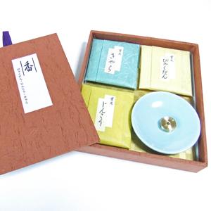 薫風 三種 香皿セット(ミニサイズ 6cm)