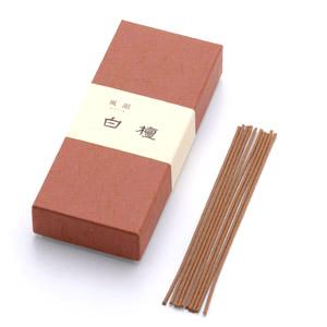 風韻 白壇(短寸線香 13.5cm バラ入)