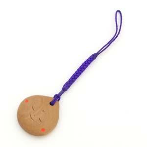 白檀ストラップ/豆仏マメブツ(紫)