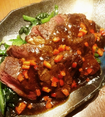 《クール冷蔵便》牛フィレ肉の黒胡椒ソースがけ