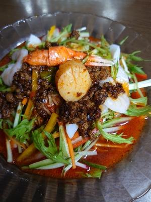 《クール冷蔵便》麻辣辛味サラダ冷やし中華麺