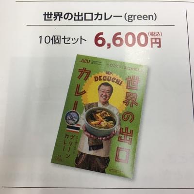 世界の出口カレー(green)10個セット