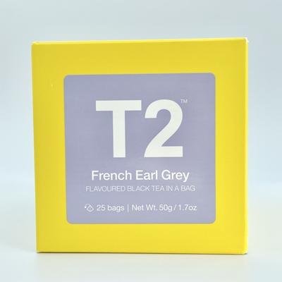T2 French Earl Grey ティーバッグ(25袋入り)