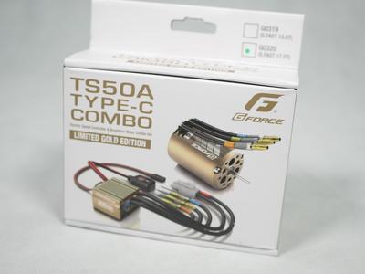 Gforce製 ESC・モーターコンボセット TS50A/TYPE-C17.5 限定ゴールドバージョン