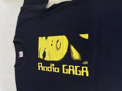 GAGAオリジナル Tシャツ(ネイビーボディ/イエロープリント 2021年度版)