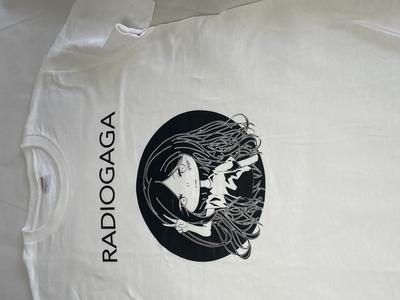 GAGAオリジナルTシャツ (ホワイトボディ/ブラックプリント 2021年度版 ガガ子Ver.)