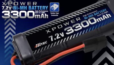 XPOWER [エックスパワー] Ni-MH 7.2V 3300mAh タミヤタイプコネクター