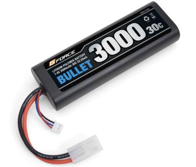 Gforce  BULLET LiPo 7.4V 3000mAhバッテリー 最初のリポにお勧め