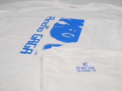 GAGATシャツ ホワイトボディ/ブループリント