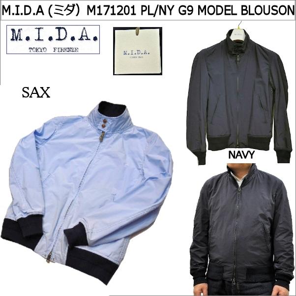 M.I.D.A (ミダ)M181201 PL/NY G9 MODEL BLOUSON