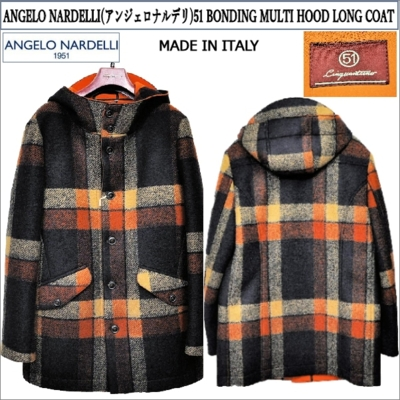 ANGELO NARDELLI(アンジェロナルデリ)51 BONDING MULTI HOOD LONG COAT