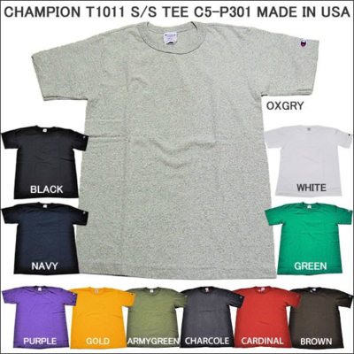 チャンピオン Champion メンズTシャツ  T1011 S/S C5-P301