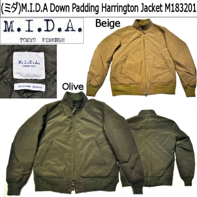 (ミダ)M.I.D.A Down Padding Harrington Jacket M183201
