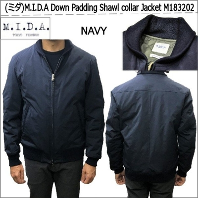 (ミダ)M.I.D.A Down Padding Shawl collar Jacket M183202