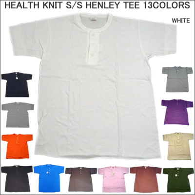 HEALTH KNIT (ヘルスニット)S/S HENLEY TEE