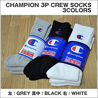 CHAMPION[チャンピオン]3P CREW SOCKS[3足組 スポーツソックス]