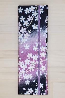 手染め友禅和紙 マスクケース スリムタイプ 「夜桜」3020