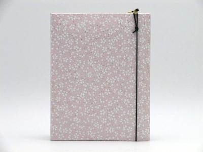 手染め友禅和紙 写真立て(L判サイズ)「小花」ピンク3435