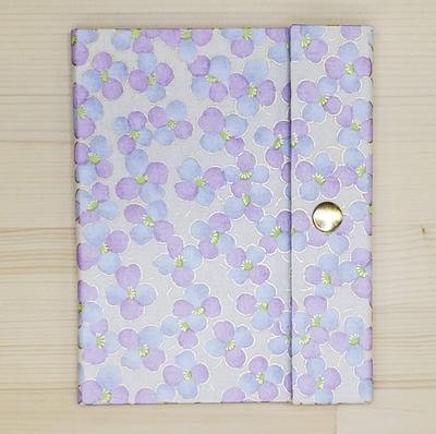 手染め友禅和紙 マスクケース レギュラータイプ 「光春」紫3280
