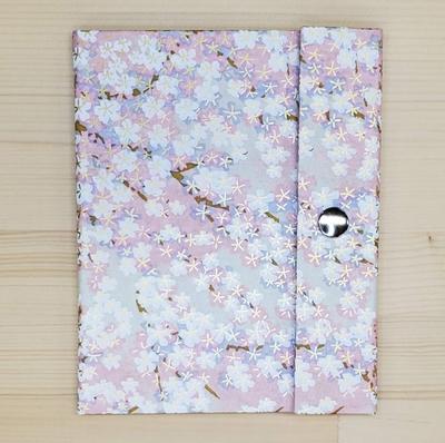 手染め友禅和紙 マスクケース レギュラータイプ 「桜花」ピンク3377