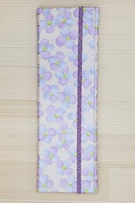 手染め友禅和紙 マスクケース スリムタイプ 「光春」紫3280