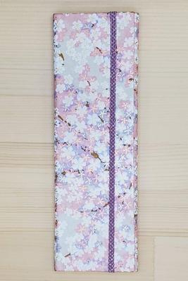 手染め友禅和紙 マスクケース スリムタイプ 「桜花」ピンク3377