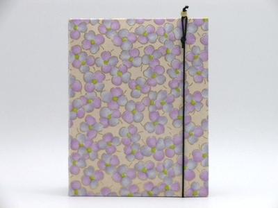 手染め友禅和紙 写真立て(L判サイズ)「光春」紫3280