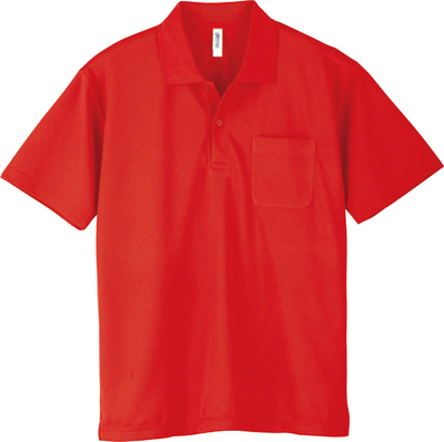 ドライポロシャツ(ポケット付)
