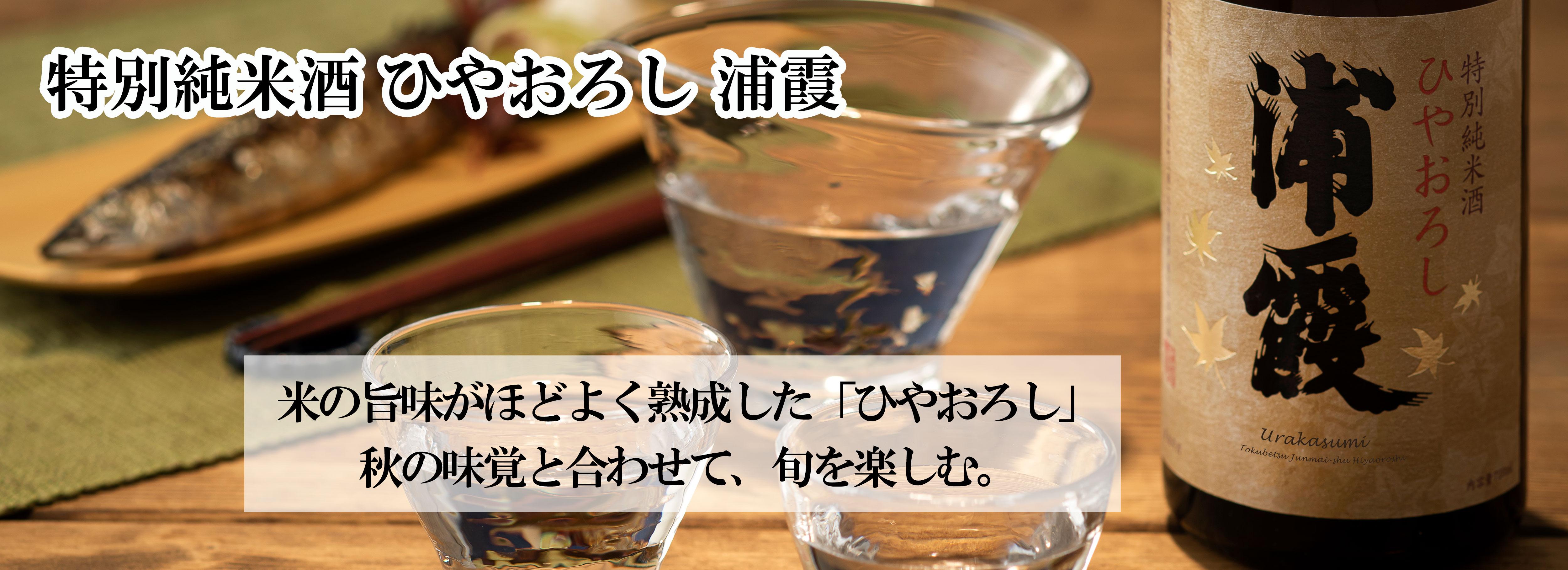 「特別純米酒 ひやおろし 浦霞」季節限定発売
