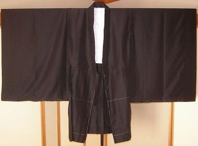 本願寺派 ラブーナ黒衣 (ポリエステル100%) 羽二重と紗地