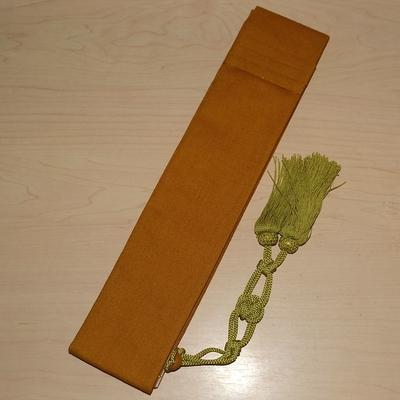 日蓮宗 折五条 綿麻地 木蘭色