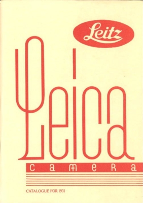 Leica Camera Catarogue For1931