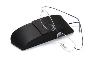 薄型レンズ付メガネセット シルエット Silhouette MinimalArt TMA 5515/CW-4642(インディゴブルー)