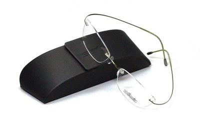 薄型レンズ付メガネセット シルエット Silhouette MinimalArt TMA 5515/CX-5542(モス)