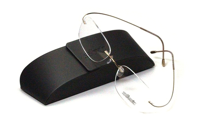 薄型レンズ付メガネセット シルエット Silhouette MinimalArt TMA 5515/CR-7532(ゴールド)