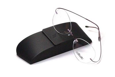 薄型レンズ付メガネセット シルエット Silhouette MinimalArt TMA 5515/CS-3542(マロウシャドウ)