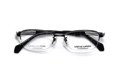 シャルマン MENSMARK メンズマーク  XM 1186-BK ブラック【エクセレンスチタン】【メンズ】【男性用】【日本製】【ハーフリム】