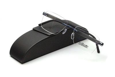 薄型レンズ付メガネセット Silhouette INSPIRE インスパイア 5506-4542 ブラック/マットガンメタ
