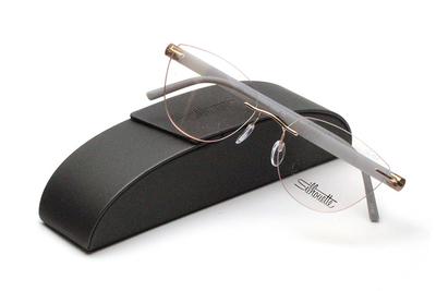 薄型レンズ付メガネセット Silhouette INSPIRE インスパイア 5506-3636 マットグレー/ゴールド