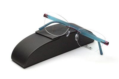 薄型レンズ付メガネセット Silhouette INSPIRE インスパイア 5506-3042 グリーン/マットワイン