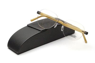 薄型レンズ付メガネセット Silhouette INSPIRE インスパイア 5506-6566 ベージュ/グレー